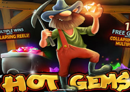 "Newtown Casino Slot Game ""Hot Gems"" Excavation The Treasure!"