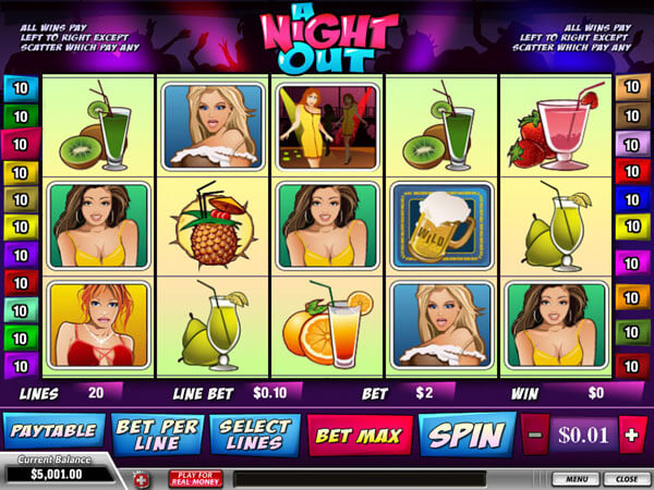 Play A Night Out Slots Online at Casino.com South Africa