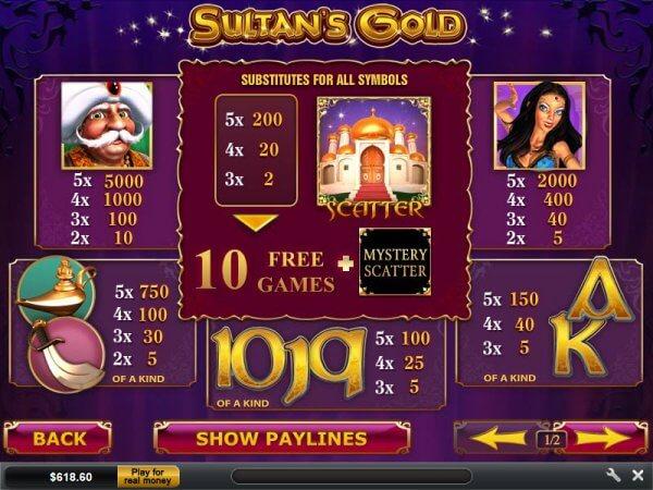 Sultans Gold Slot Machine