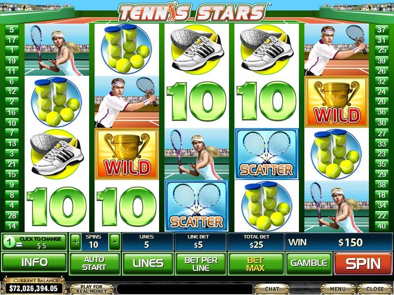 Play Free Slot Game Tennis Stars Slot By Newtown Casino