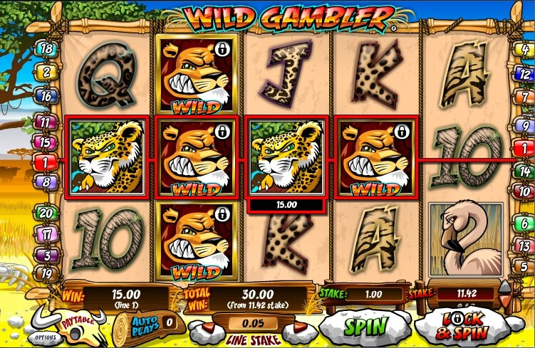 Wild Gambler - Free Online Slot with Lock Wilds