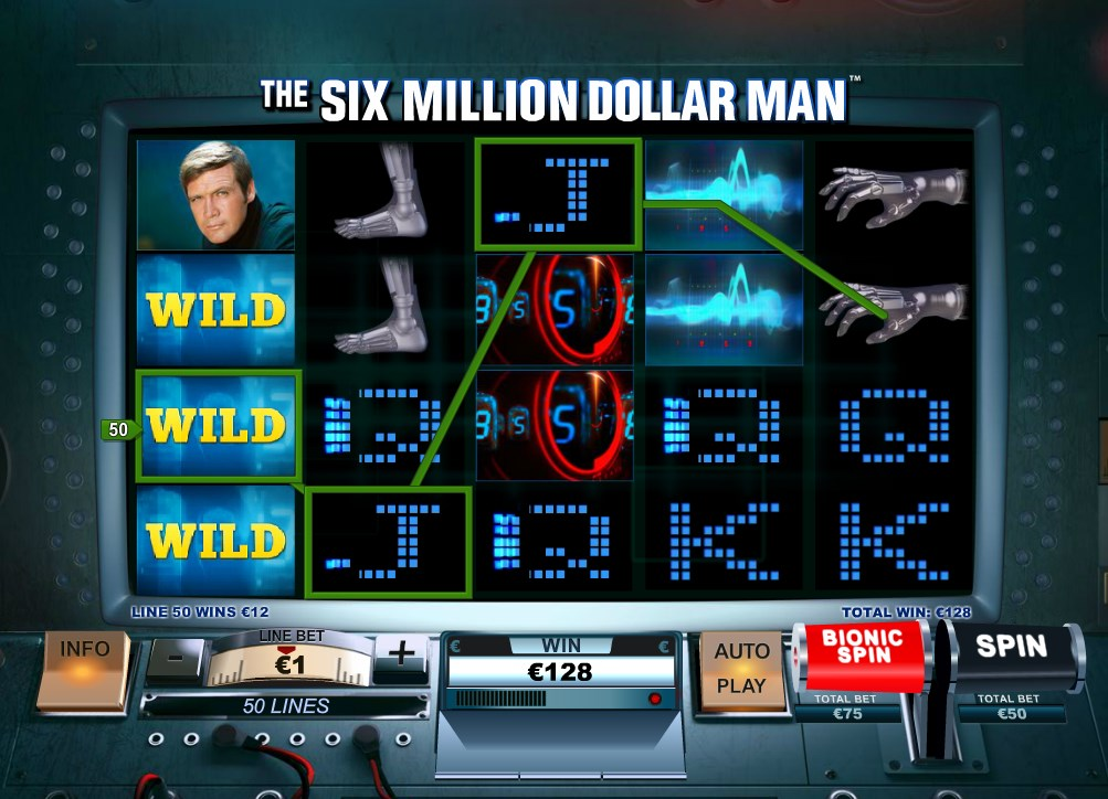 Play The Six Million Dollar Man Online Slots at Casino.com UK