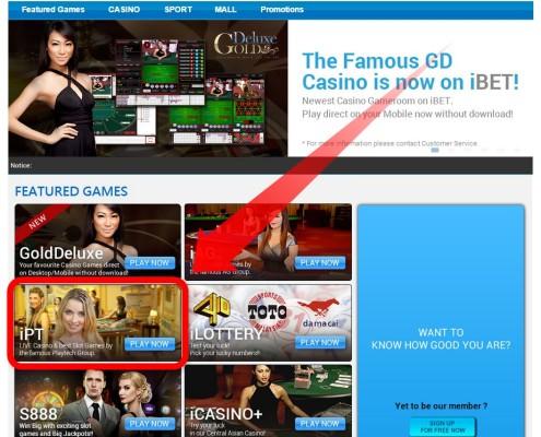 iBET Online Casino Partner iPT(Newtown Casino) Malaysia