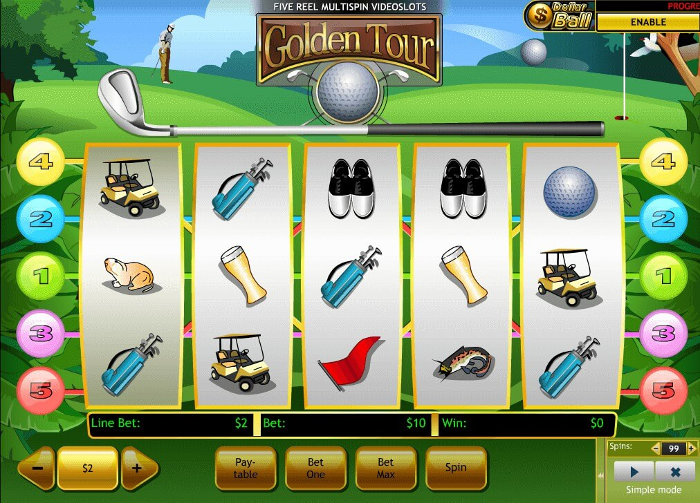Golf Tour Slot - Play Free Gameplay Interactive Slots Online