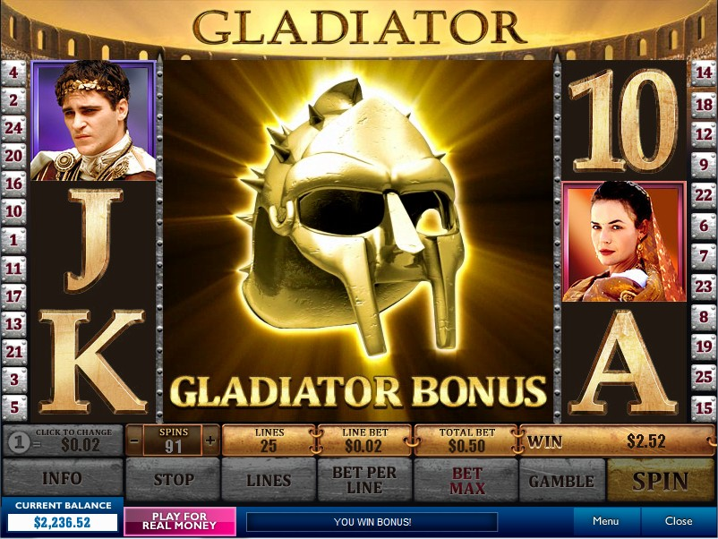 Play Gladiator Slots Online at Casino.com India